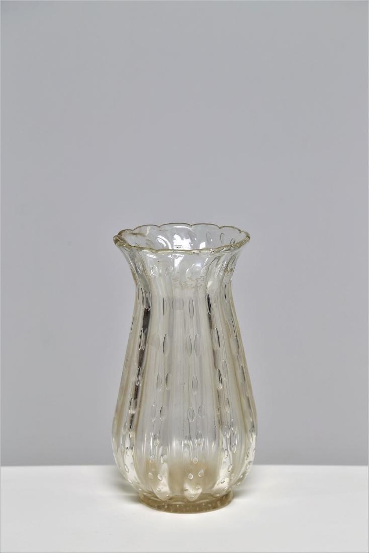 ERCOLE BAROVIER Barovier & Toso clear bubble glass
