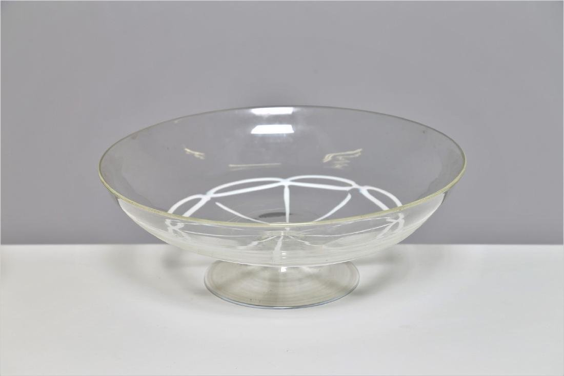 MANIFATTURA MURANO Transparent glass centerpiece with