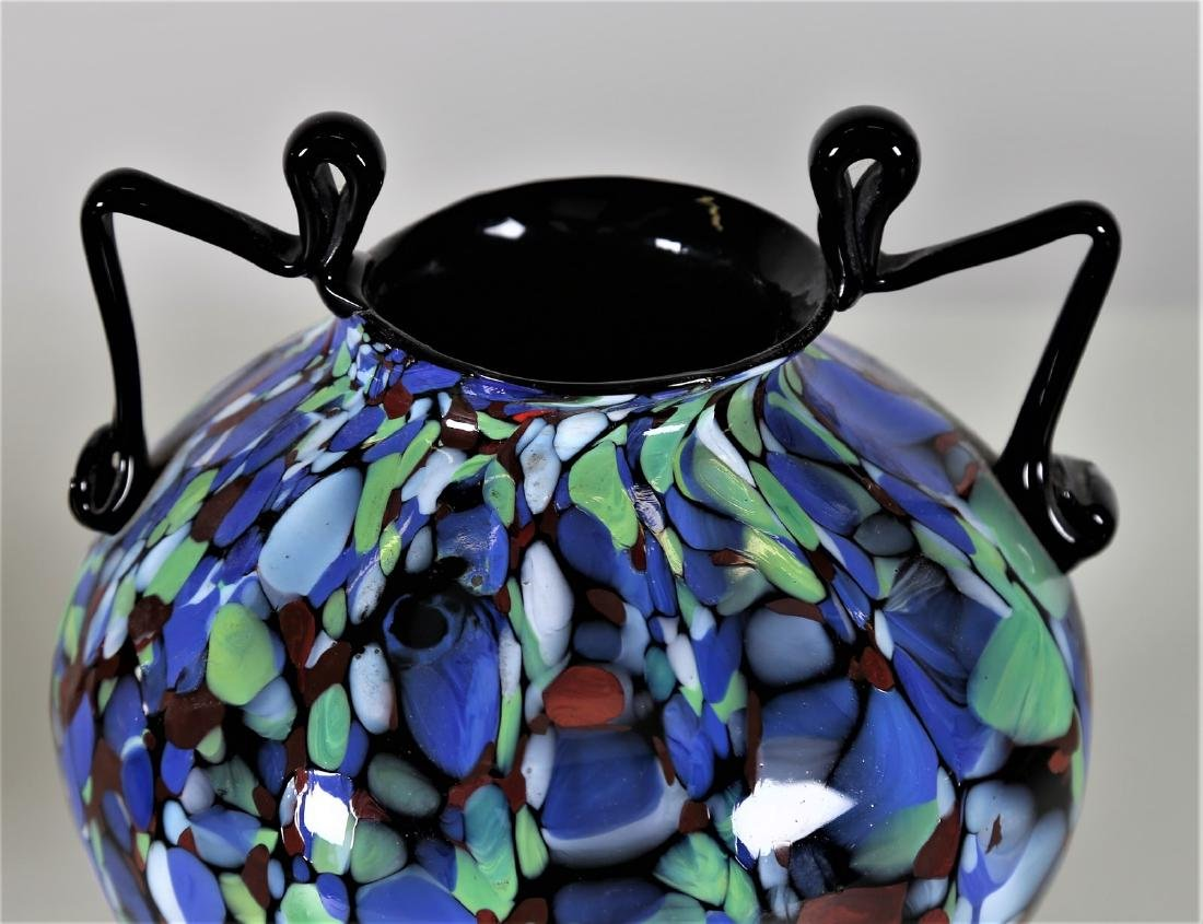 """FRATELLI TOSO  Amphora in """"biansato"""" glass with - 2"""