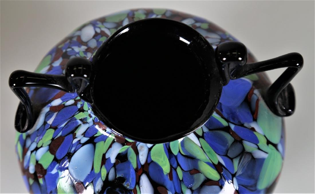 """FRATELLI TOSO  Amphora in """"biansato"""" glass with - 3"""