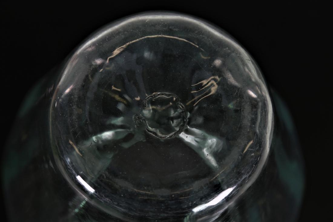 NAPOLEONE MARTINUZZI Transparent ribbed green glass - 3