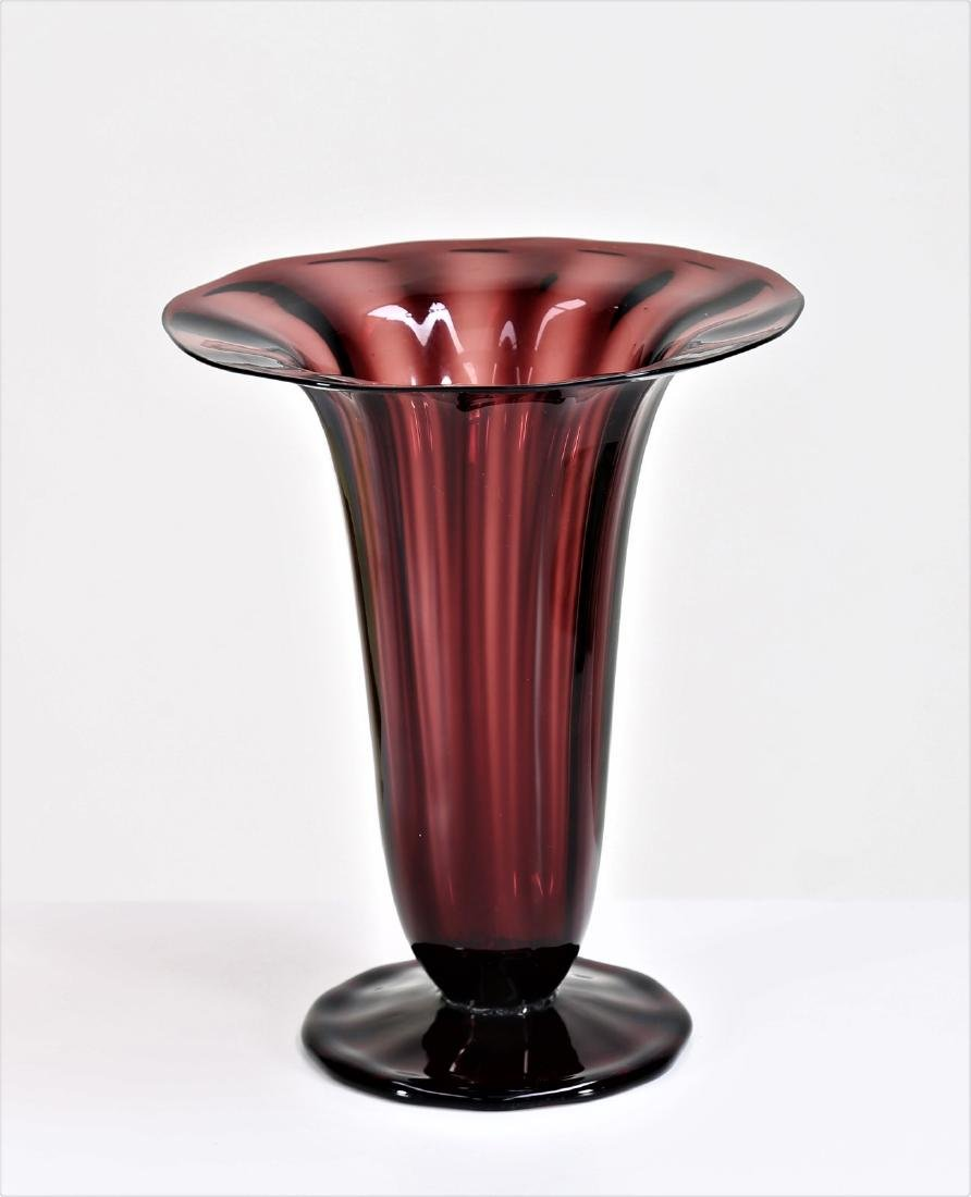 ZECCHIN & MARTINUZZI  Transparent blown glass vase,