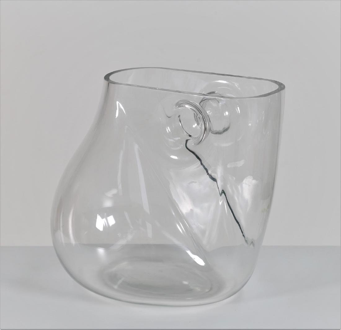 BARBINI MURANO  Crystal sculpture vase, 1970s. Signed
