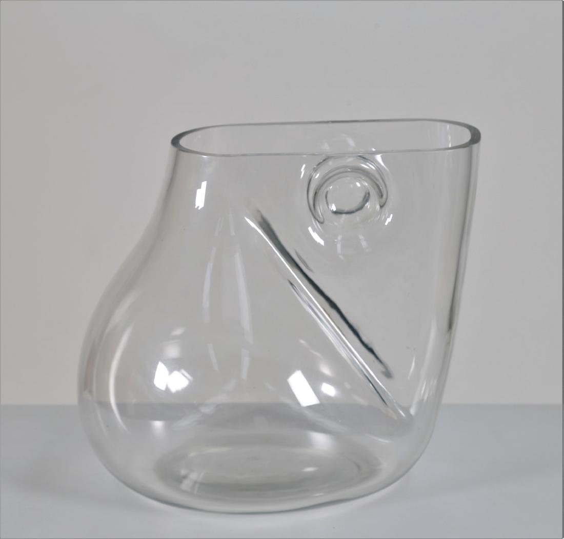 BARBINI MURANO  Crystal sculpture vase, 1970s. Signed - 4