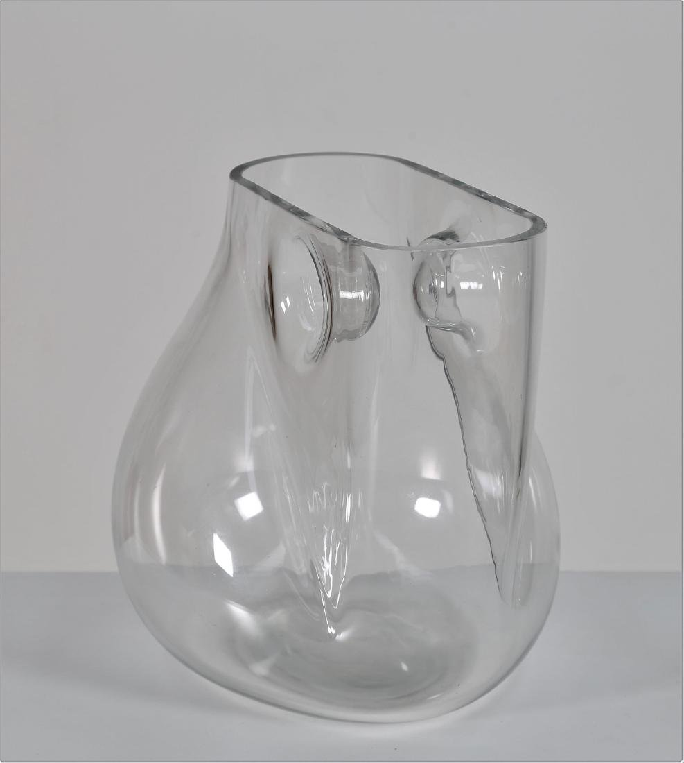 BARBINI MURANO  Crystal sculpture vase, 1970s. Signed - 5