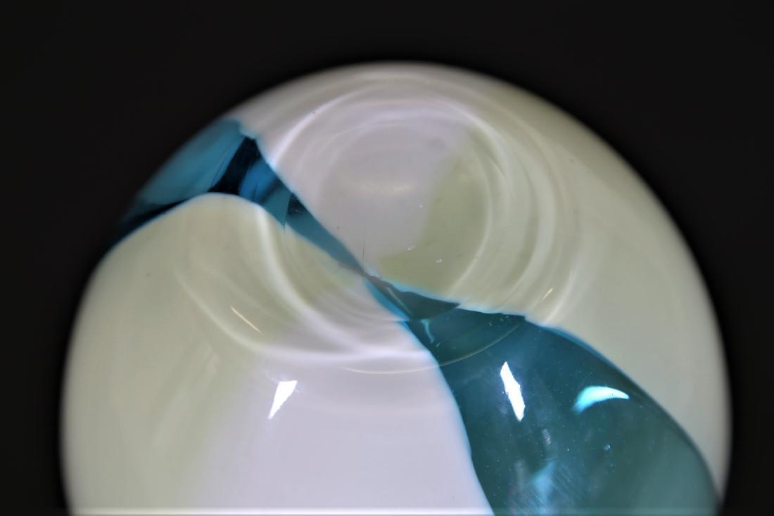 CARLO MORETTI Incalmo glass vase with vertical bands, - 3