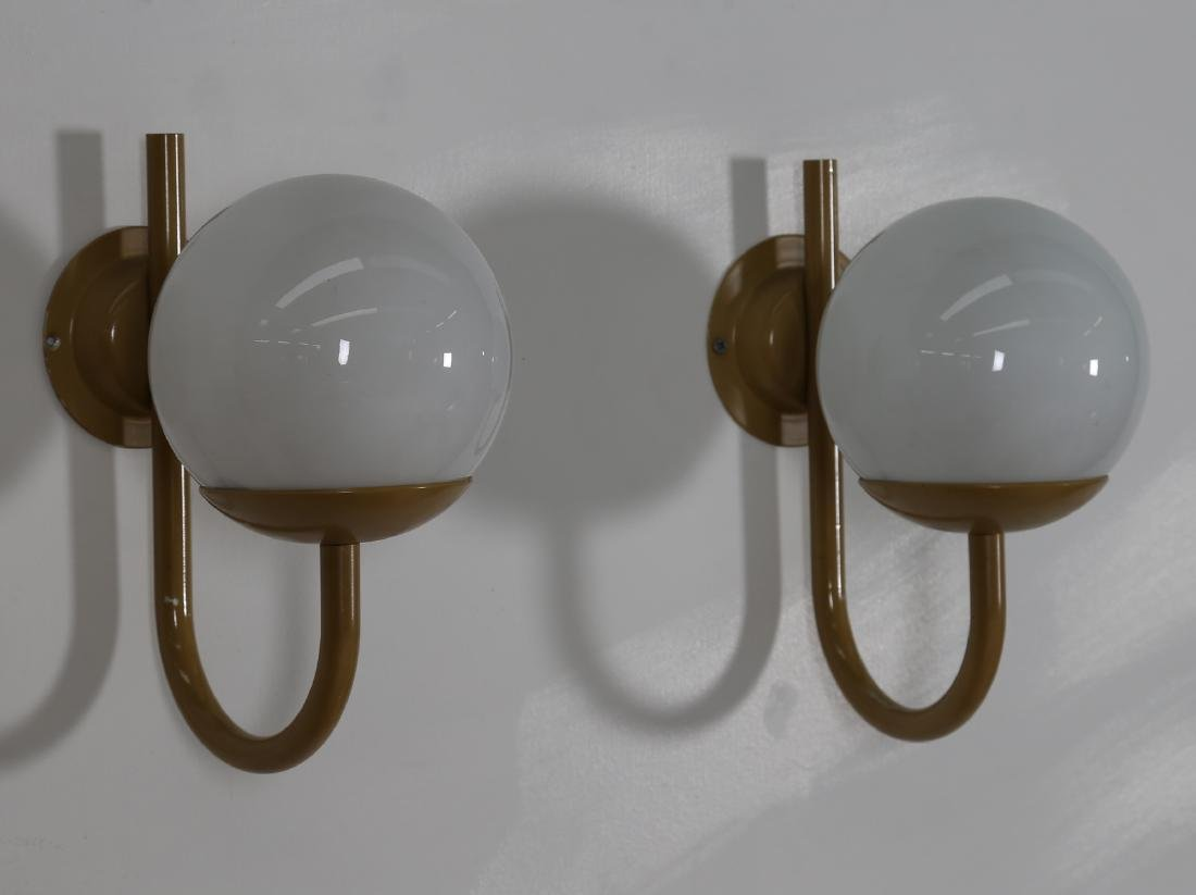 LAMTER  Chandelier and two wall lamps in lacquered - 4