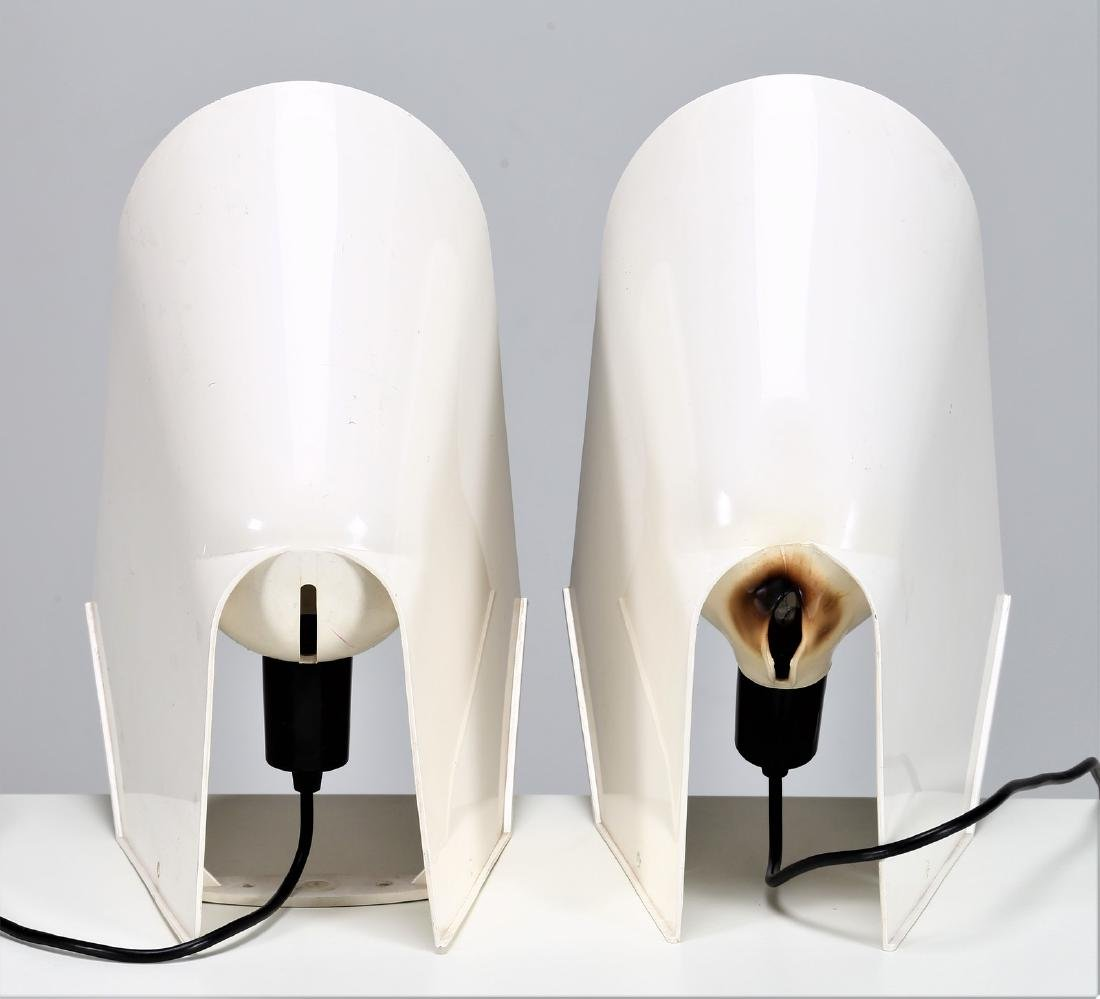 CINI BOERI Pair of plastic lamps, Lucetta model by - 3
