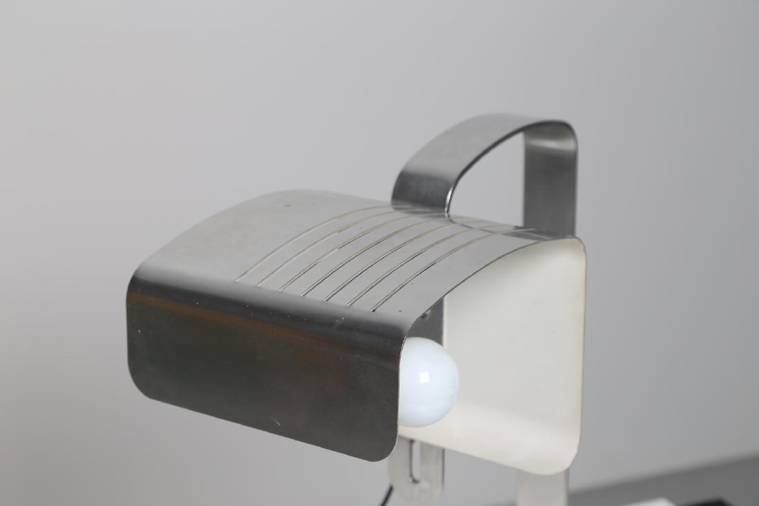 MANIFATTURA ITALIANA  Table lamp in chromed metal, - 3