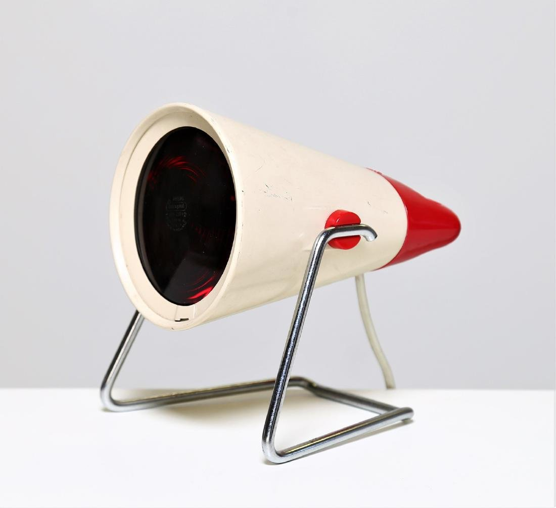 CHARLOTTE  PERRIAND Infrared table lamp in metal and