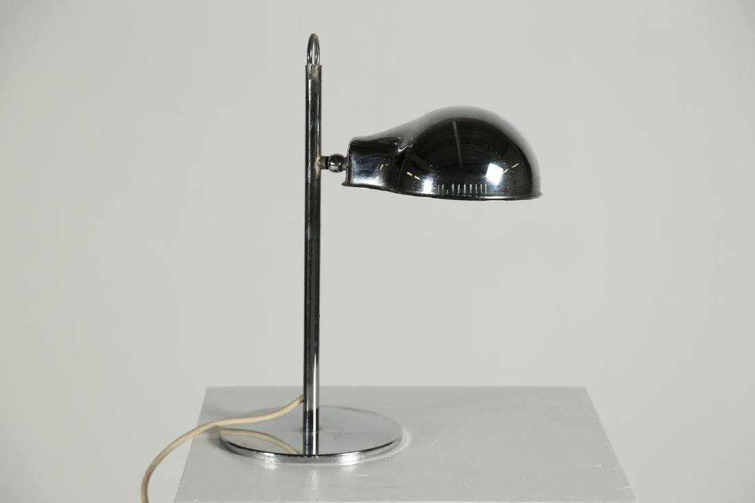MANIFATTURA ITALIANA Table lamp in chromed metal,