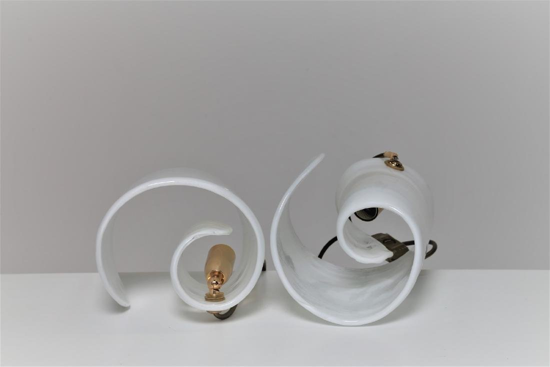 LA MURRINA  Pair of glass and metal table lamps, 1970s. - 2