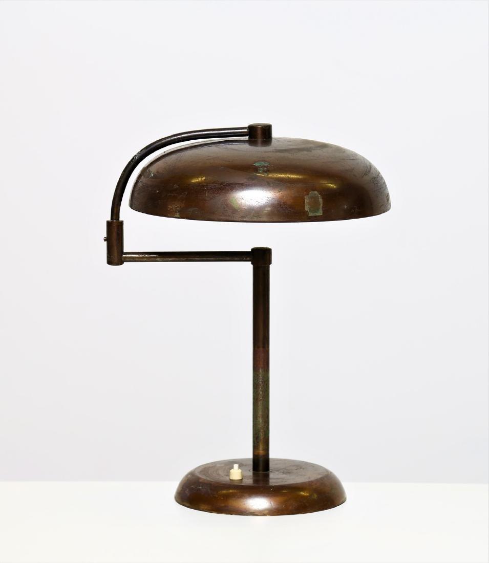 MANIFATTURA ITALIANA  Brass table lamp, 1940s.