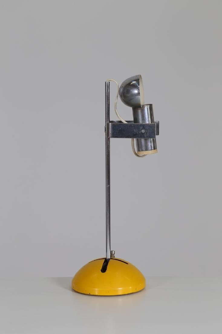 ROBERT  SONNEMAN Table lamp in lacquered, chromed