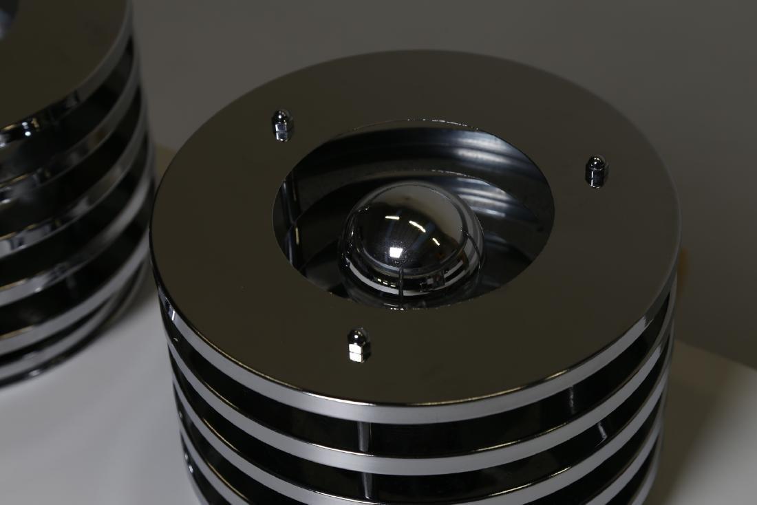 MANIFATTURA ITALIANA  Pair of table lamps in chromed - 3