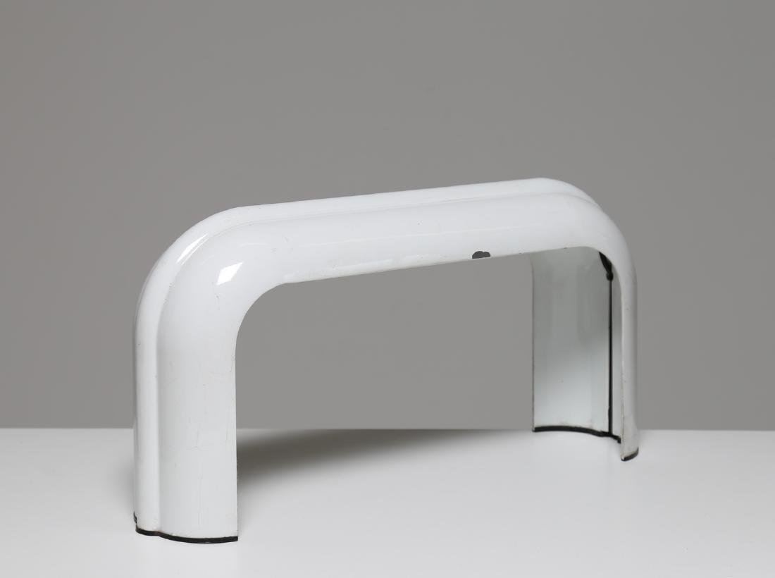 LUCIANO ANICHINI Table lamp in white lacquered metal,