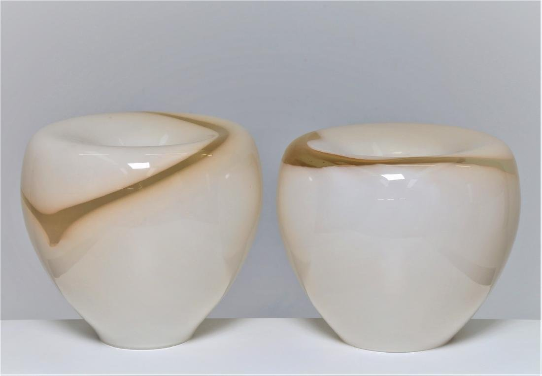 LA MURRINA  Pair of banded glass table lamps, 1970s.