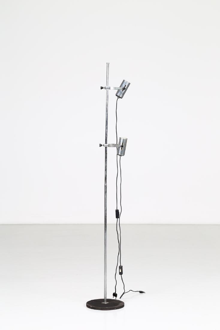 MANIFATTURA ITALIANA  Floor lamp in chromed, lacquered