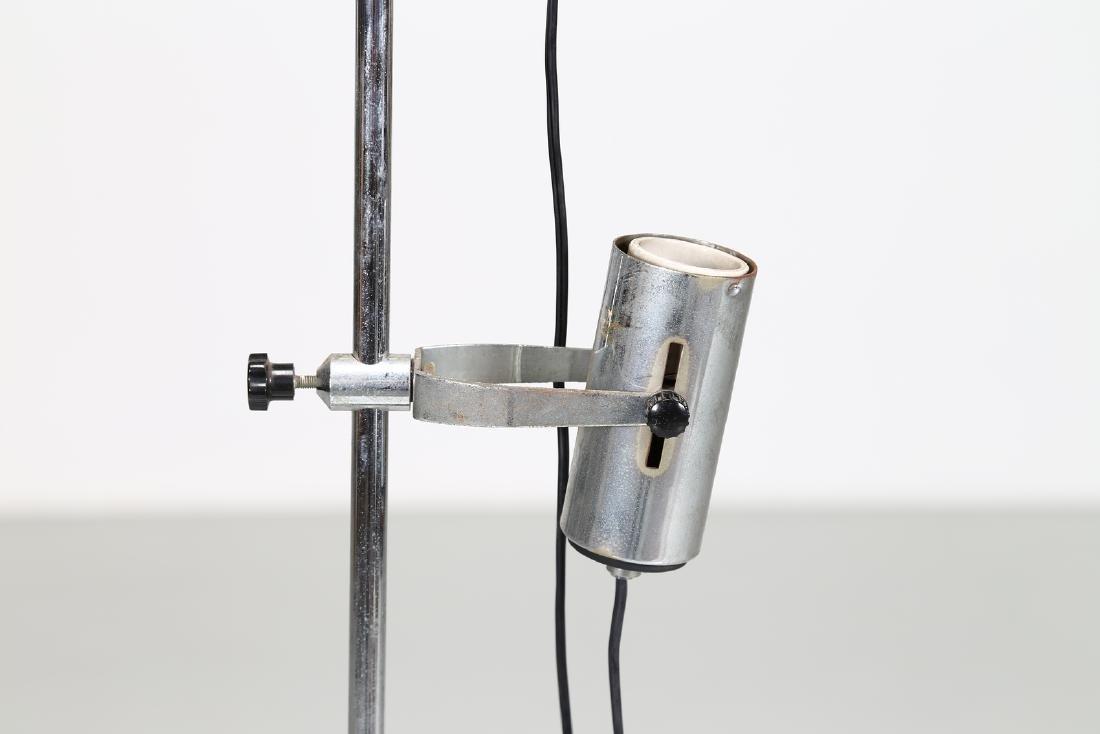 MANIFATTURA ITALIANA  Floor lamp in chromed, lacquered - 2