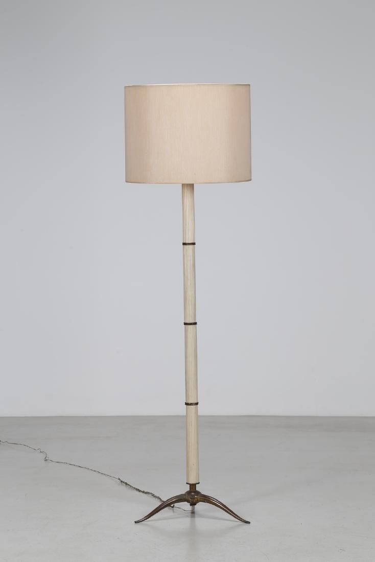 MANIFATTURA ITALIANA  Standard lamp in lacquered metal