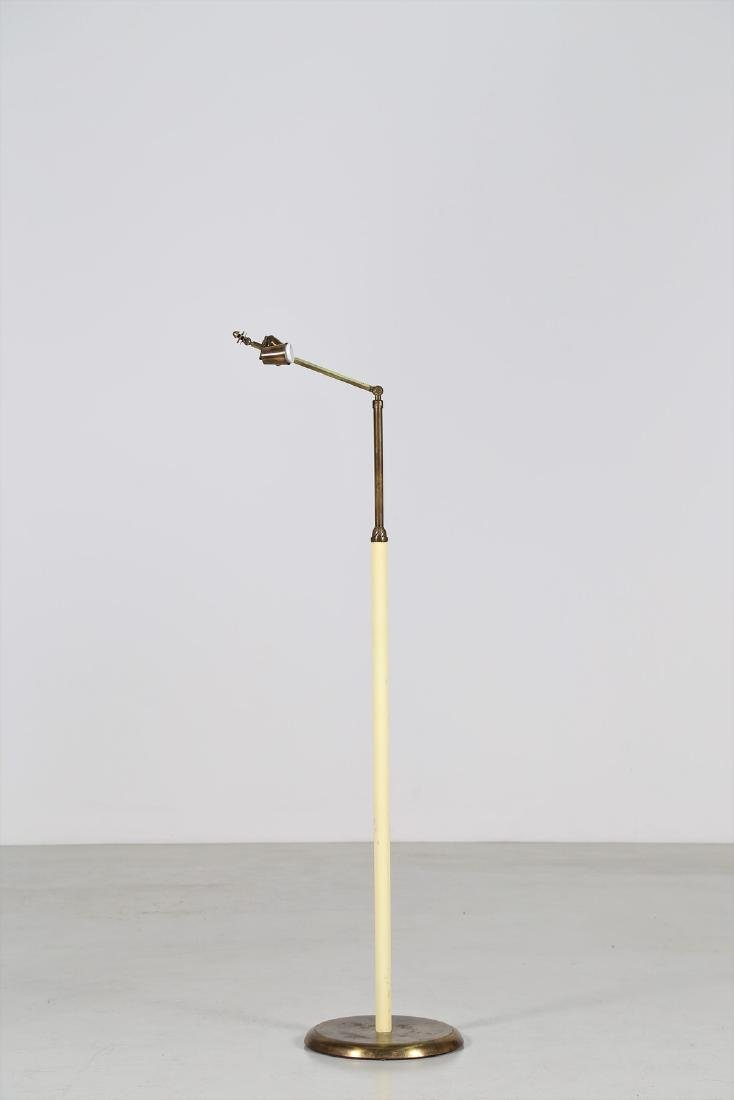 ARREDOLUCE  Brass and lacquered metal floor lamp,