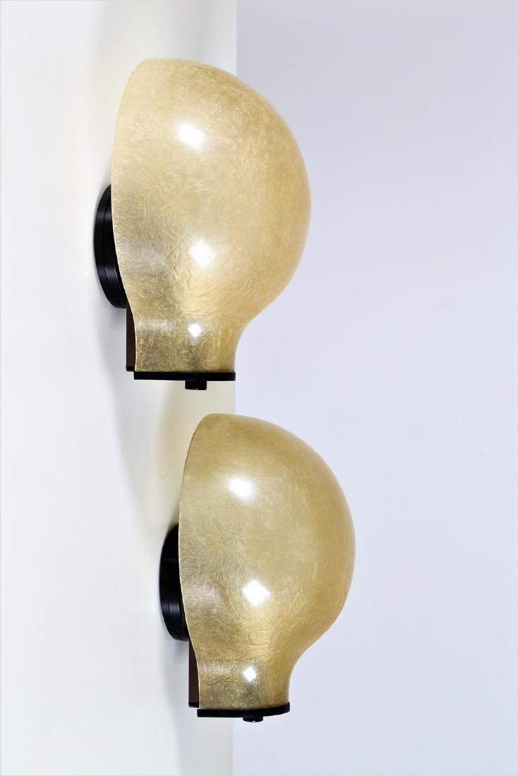 LUCI ILLUMINAZIONE  Pair of wall lamps in lacquered
