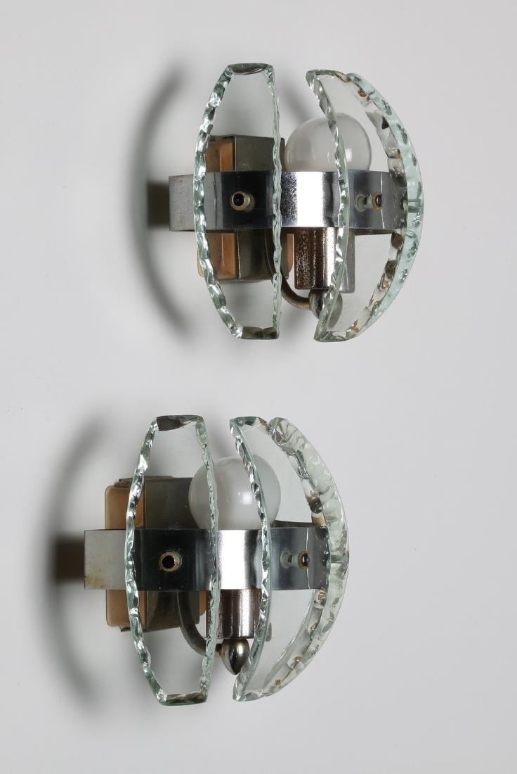 MANIFATTURA ITALIANA  Pair of chromed metal and