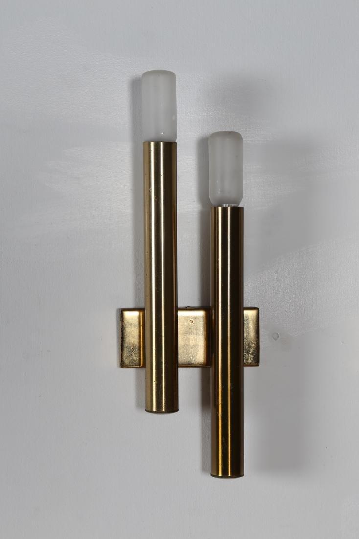 STILNOVO  Pair of brass wall lamps, 1960s. - 2