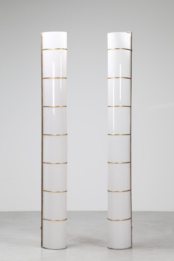 MANIFATTURA ITALIANA  Pair of large wall lamps in