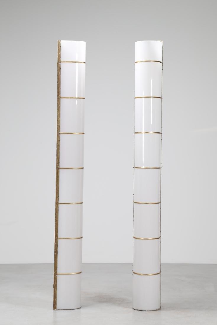 MANIFATTURA ITALIANA  Pair of large wall lamps in - 2