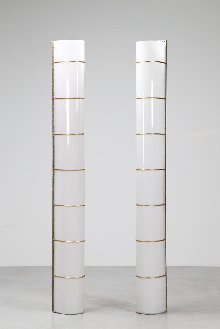 MANIFATTURA ITALIANA  Pair of big brass and perspex