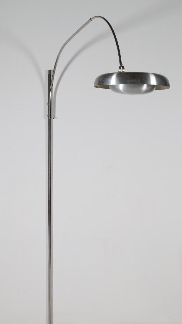 PIRRO  CUNIBERTI Arched wall-to-ceiling lamp in brushed