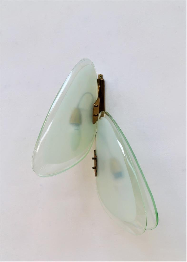 FONTANA ARTE  In the style of: Wall lamp in crystal and