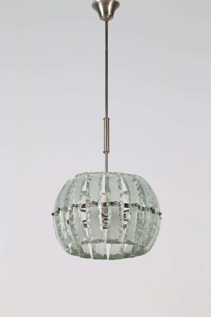 MANIFATTURA ITALIANA  Pendant light in chromed metal