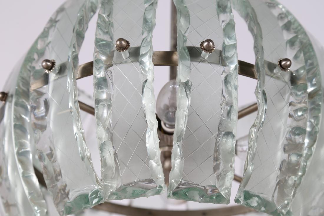 MANIFATTURA ITALIANA  Pendant light in chromed metal - 3