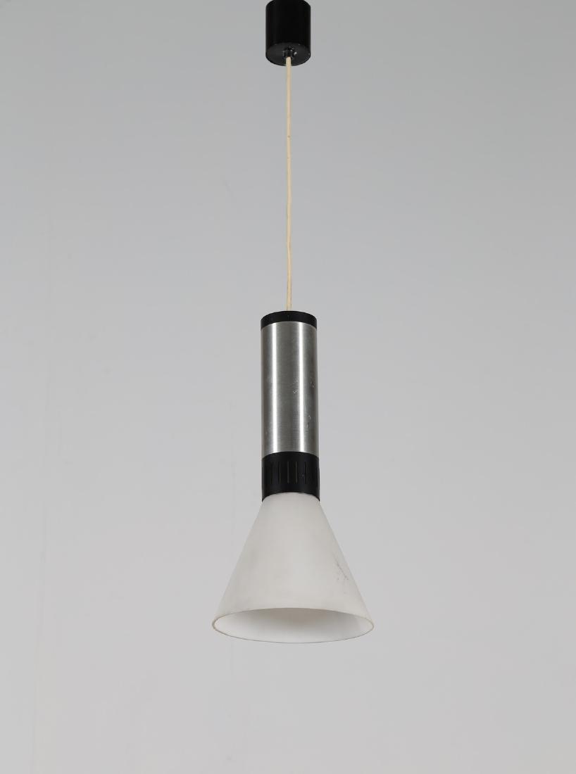 STILNOVO  Pendant light in aluminium and satin glass,