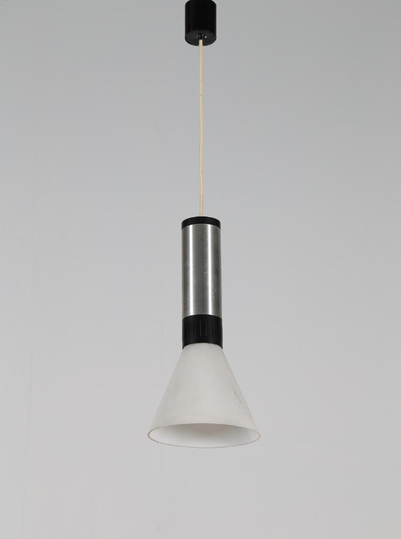 STILNOVO  Pendant light in aluminium and satin glass,