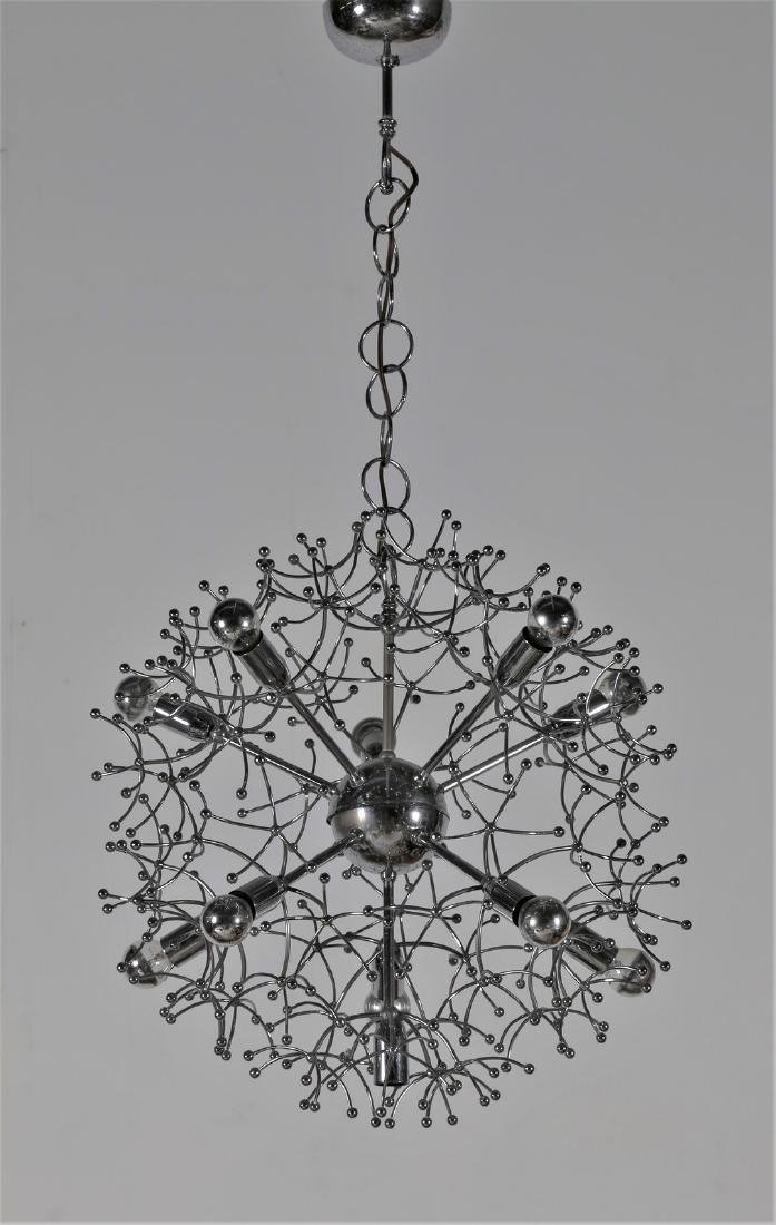 MANIFATTURA ITALIANA  Chandelier in chromed metal,