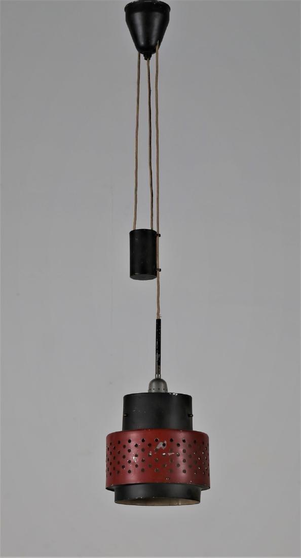 STILNOVO  Pendant light in lacquered metal, 1950s.
