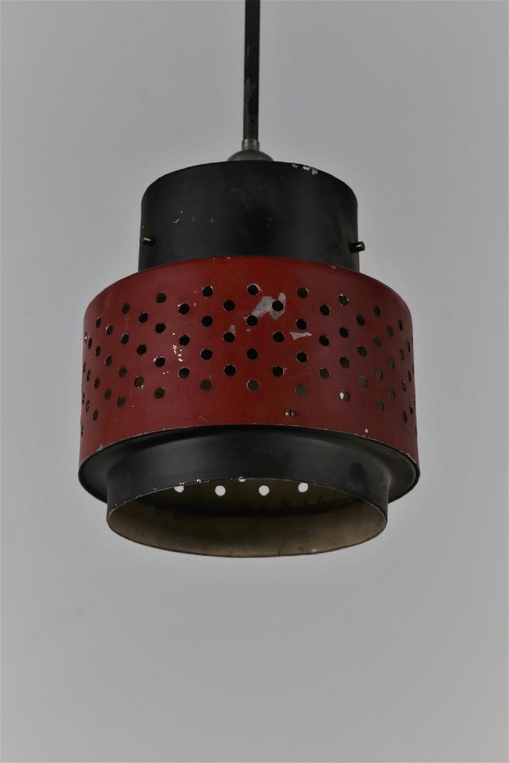 STILNOVO  Pendant light in lacquered metal, 1950s. - 2