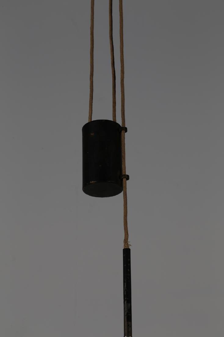 STILNOVO  Pendant light in lacquered metal, 1950s. - 3