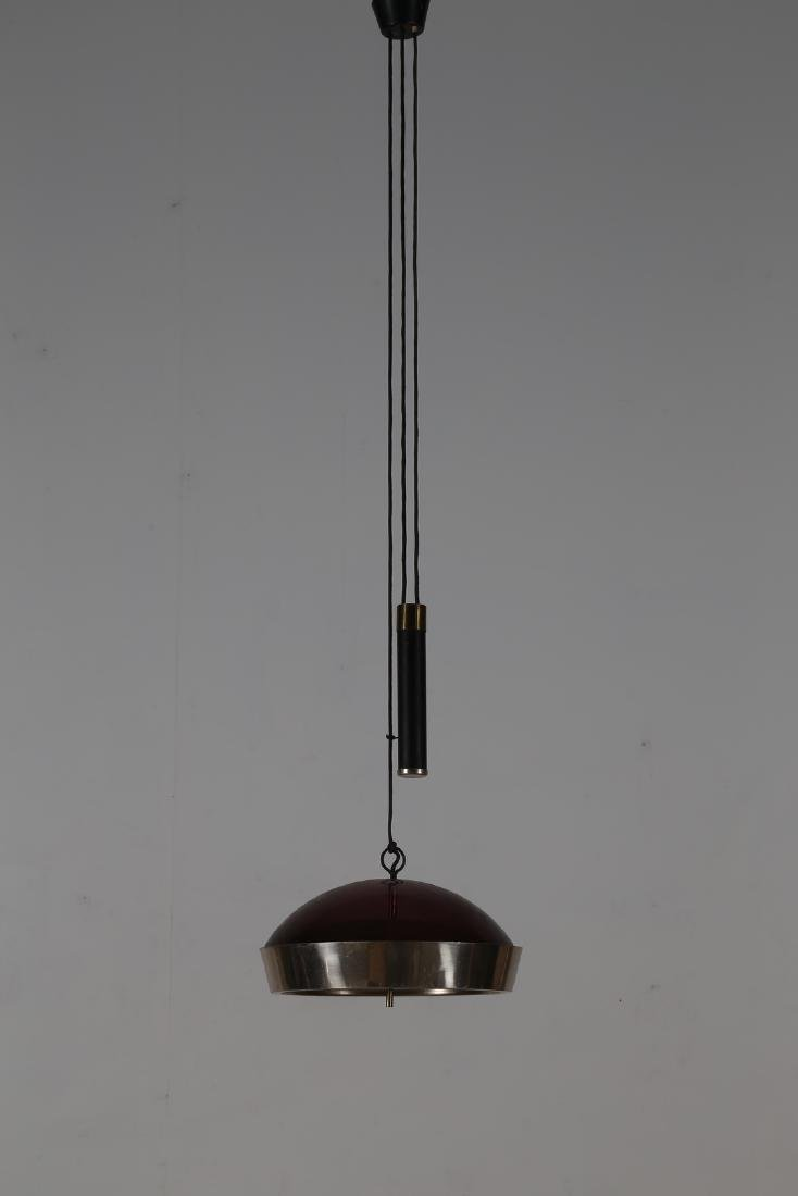 STILUX Adjustable height pendant light in brass and
