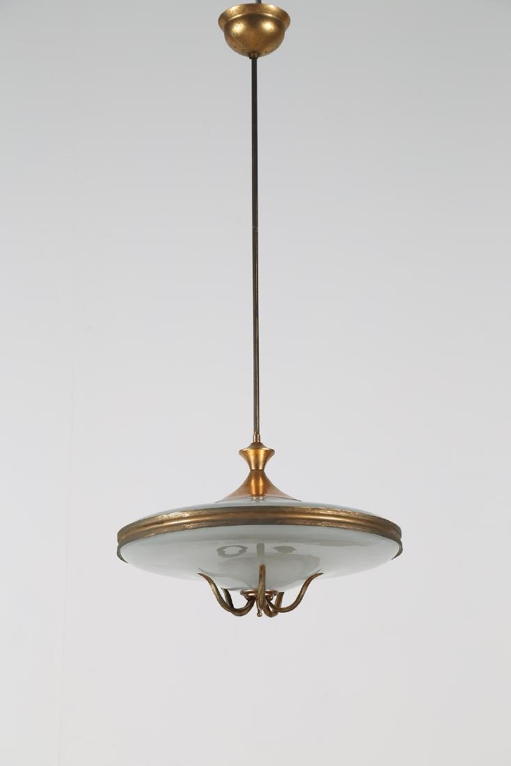 MANIFATTURA ITALIANA  Ceiling light in lacquered brass