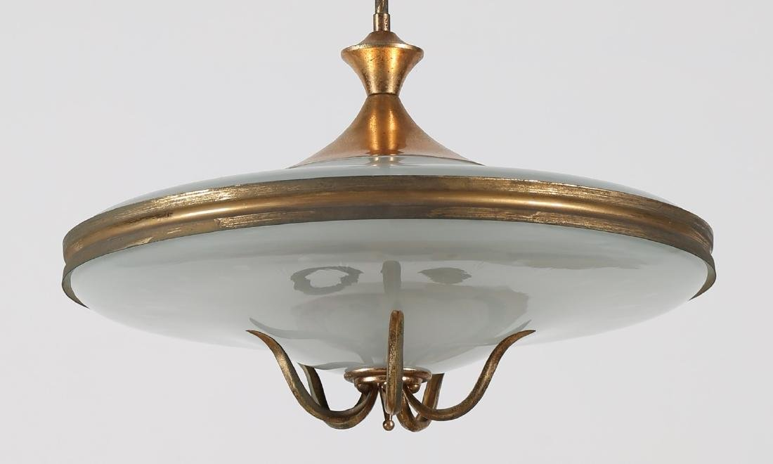 MANIFATTURA ITALIANA  Ceiling light in lacquered brass - 2