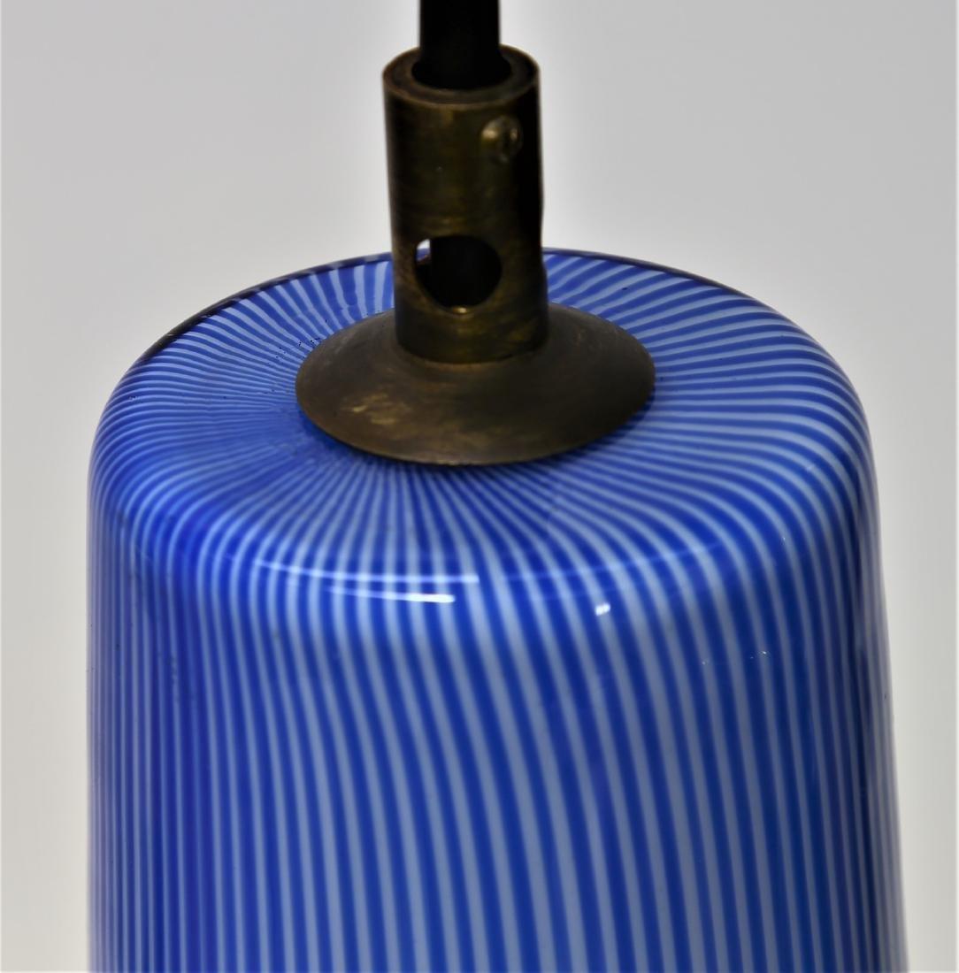 MASSIMO VIGNELLI Pendant light in vertical caned glass, - 3