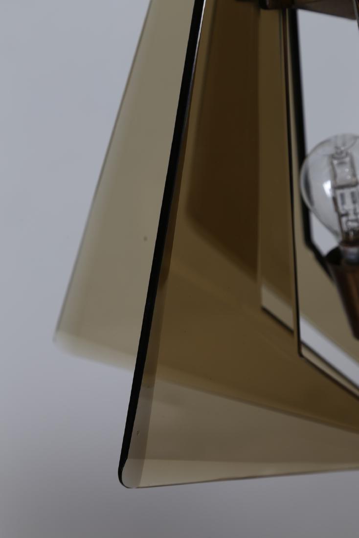 GINO  PAROLDO Ceiling light in brass and smoked glass, - 6