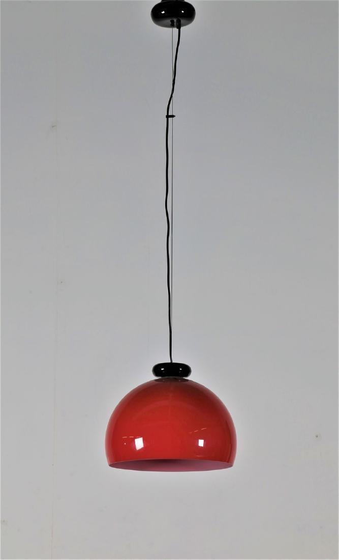 VENINI  Pendant light in cased glass, 1970s.