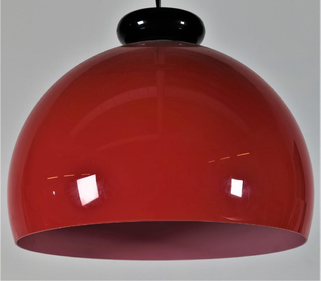 VENINI  Pendant light in cased glass, 1970s. - 2