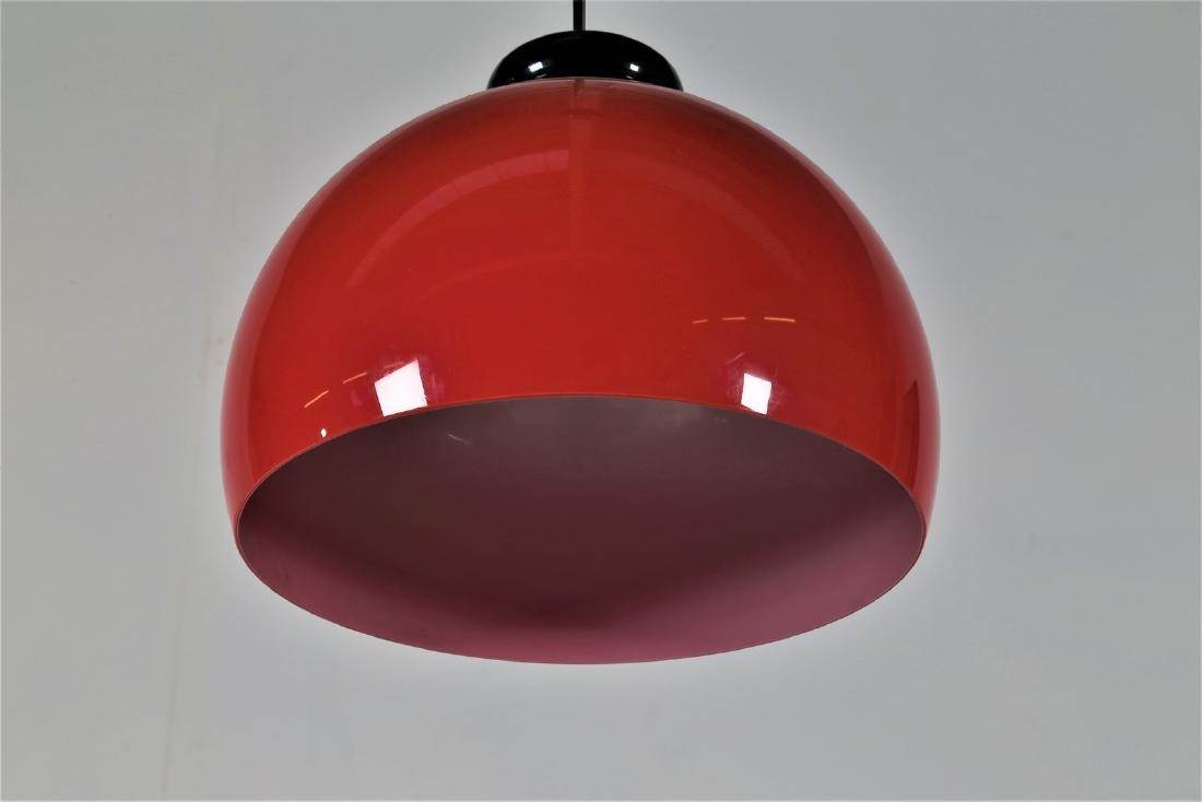 VENINI  Pendant light in cased glass, 1970s. - 3
