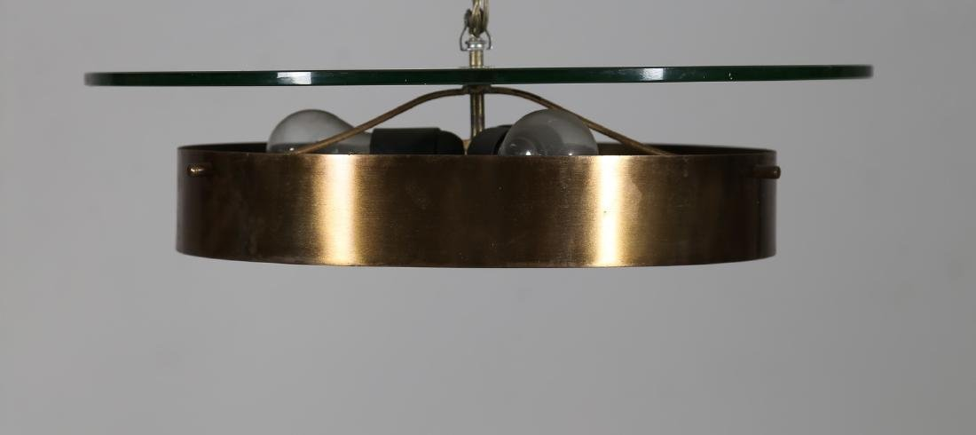 STILNOVO  Large ceiling light in lacquered brass, - 2
